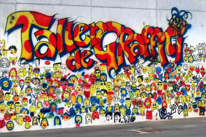 TALLER DE GRAFFITIS Y RAP